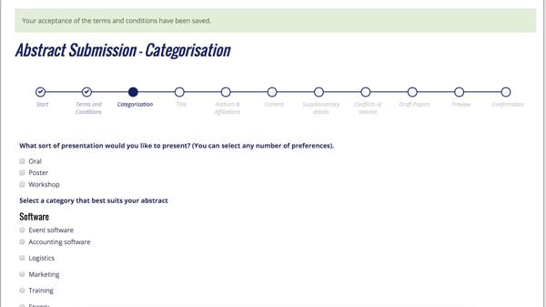 Submission categorisation