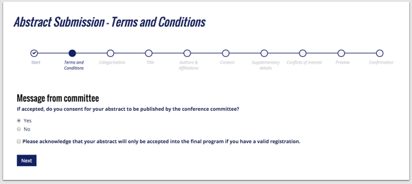 submission terms and conditions