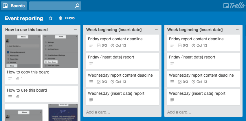 how to write weekly report