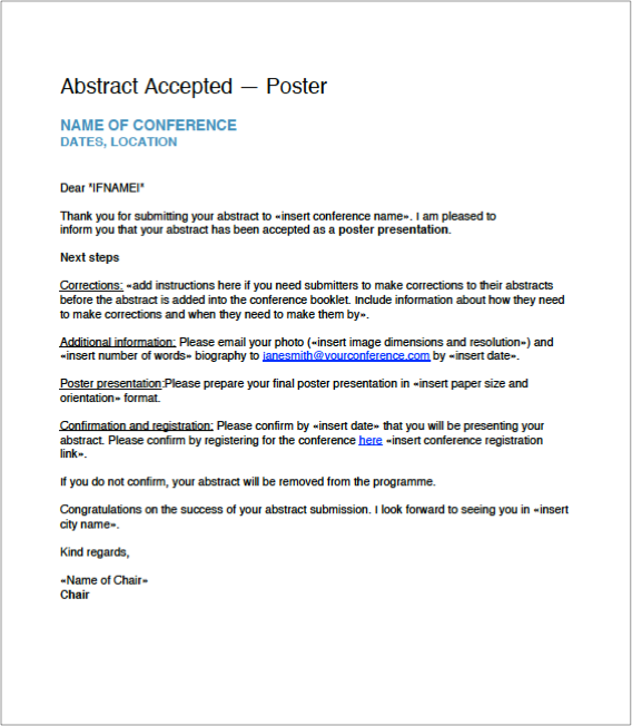 free download  call for abstract email templates