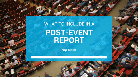 Template What To Include In A Post Event Report Currinda