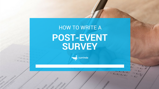 How to write a post event survey