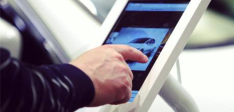 iPad kiosk for events